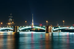 Night landscape with a bridge Stock Photography