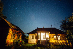 Night landscape in countryside Stock Photography