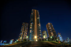 Night landscape HDR in Tokyo royalty free stock photography