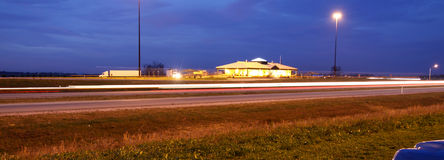 Night landscape on high way Stock Photography