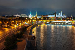 Night landscape with the image of the Moscow Stock Image
