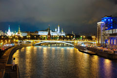 Night landscape with the image of the Moskow Royalty Free Stock Photography