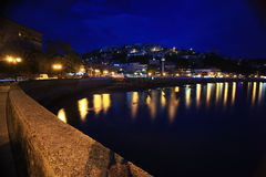 Night landscape island bay Stock Photography