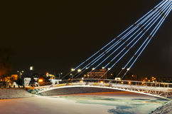 Night Landscape Kharkiv. Lights of city from the bridge Stock Photography
