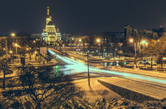 Night Landscape Kharkiv from top point Stock Image