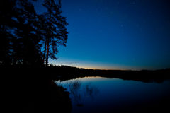 Night landscape lake Stock Images