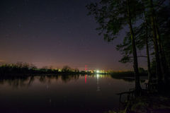 Night landscape lake Royalty Free Stock Photo