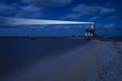 Night Landscape with Lighthouse Stock Image