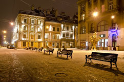 Night landscape of Lvov Royalty Free Stock Photos
