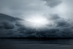 Night landscape - misty light Royalty Free Stock Image