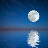 Night landscape with moon Royalty Free Stock Photography