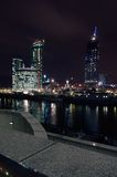 Night landscape of Moscow. Night scenery of building Moscow City royalty free stock photo