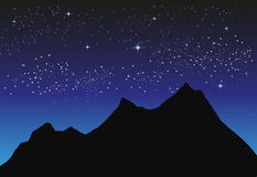 Night Landscape. Royalty Free Stock Photo