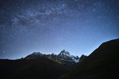 Night landscape in the mountains Royalty Free Stock Photography