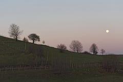 Night landscape near Jina village, Sibiu county,. Transylvania, Romania Stock Photography