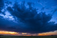 Night Landscape. La Pampa Argentina stock image