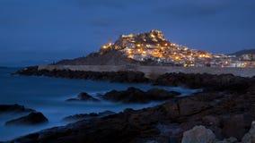 Free Night Landscape Of Castelsardo Stock Images - 99809074
