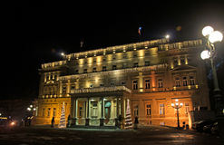 Night landscape of the Old Royal Residence in Belgrade Stock Photos