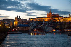 Night landscape of old town of Praha Royalty Free Stock Photos