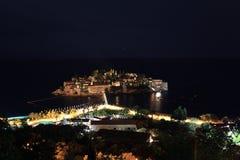 Night landscape resort Stock Photo