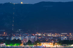Night landscape. Resort town in Russia in Gelendzhik stock images