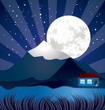 Night landscape with river Royalty Free Stock Photo