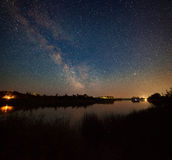 Night landscape with river Stock Images