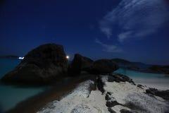 Night landscape sea beach Stock Photo