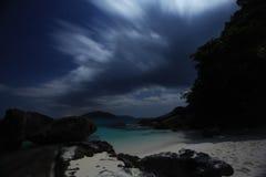 Night landscape sea beach Stock Image