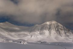 Night landscape of the Arctic stock image
