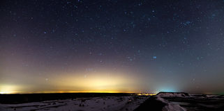 Night landscape with stars Stock Photography