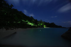 Night landscape  on tropical island Stock Photography