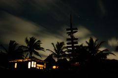 Night landscape in Tulum Royalty Free Stock Image