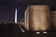 Night Landscape Washington DC Monuments Stock Images