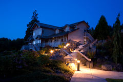 Night Landscaping and Architecture. In the Pacific Northwest Royalty Free Stock Photos