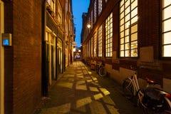 Night lane of Amsterdam Stock Photography