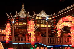 The night of Lantern Festival stock image