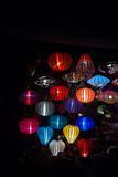 Night lanterns in old Hoi An town Stock Photos