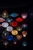 Night lanterns in old Hoi An town Stock Images