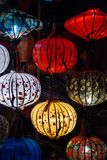 Night lanterns in old Hoi An town Royalty Free Stock Photo