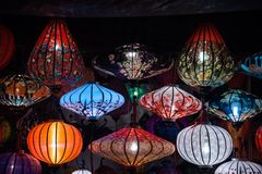Night lanterns in old Hoi An town Royalty Free Stock Image