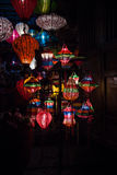 Night lanterns in old Hoi An town Royalty Free Stock Photography