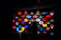 Night lanterns in old Hoi An town Royalty Free Stock Photos