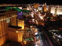 Night Las Vegas. Las Vegas Boulevard - Spectacular view of the Eiffel Tower Stock Image