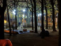 Night Letná Plain. Royalty Free Stock Images