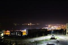 Night and library. At canakkale comu university Stock Photo