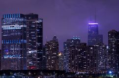 Night Life Chicago Royalty Free Stock Photos