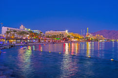 The night life in Eilat Stock Photography
