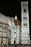 Night life and tourists in Florence city , Italy Royalty Free Stock Photography