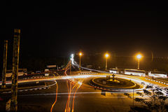Night Life. Goa City and Portuguese Light Posts in Long Exposure - Night View Stock Image